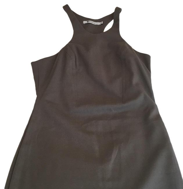Item - Gray / Green Racer Back Short Night Out Dress Size 4 (S)