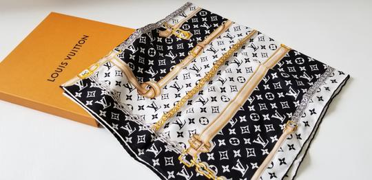 Louis Vuitton NEW LV Monogram Confidential Bandeau large square scarf wrap Image 1