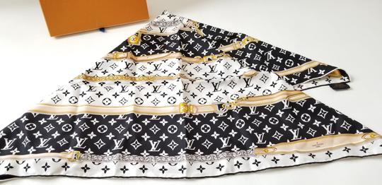 Louis Vuitton NEW LV Monogram Confidential Bandeau large square scarf wrap Image 10