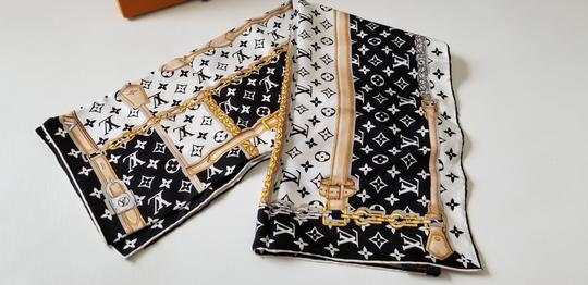 Louis Vuitton NEW LV Monogram Confidential Bandeau large square scarf wrap Image 3
