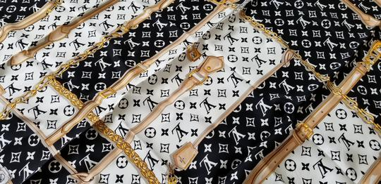 Louis Vuitton NEW LV Monogram Confidential Bandeau large square scarf wrap Image 5