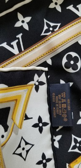 Louis Vuitton NEW LV Monogram Confidential Bandeau large square scarf wrap Image 7