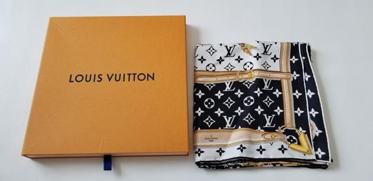 Louis Vuitton NEW LV Monogram Confidential Bandeau large square scarf wrap Image 9