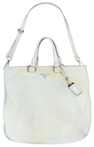 Prada Tote in winter white