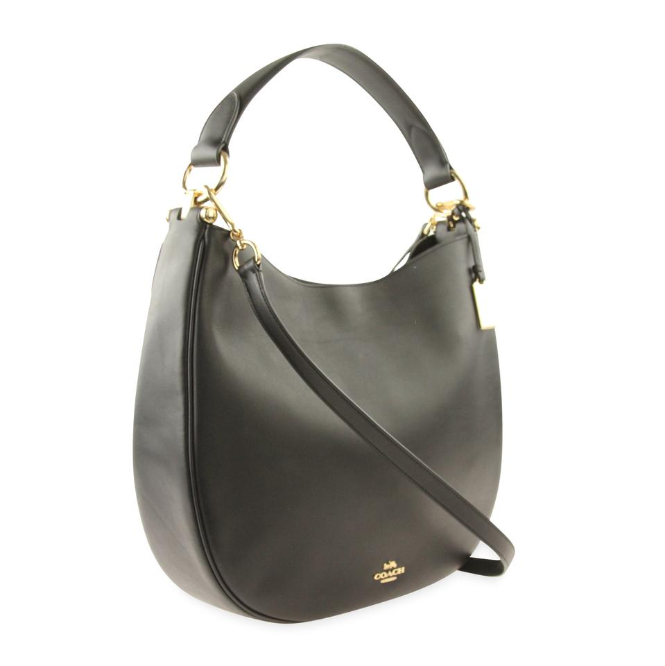 Coach Nomad Black Leather Hobo Bag - Tradesy 77d93d63a3177
