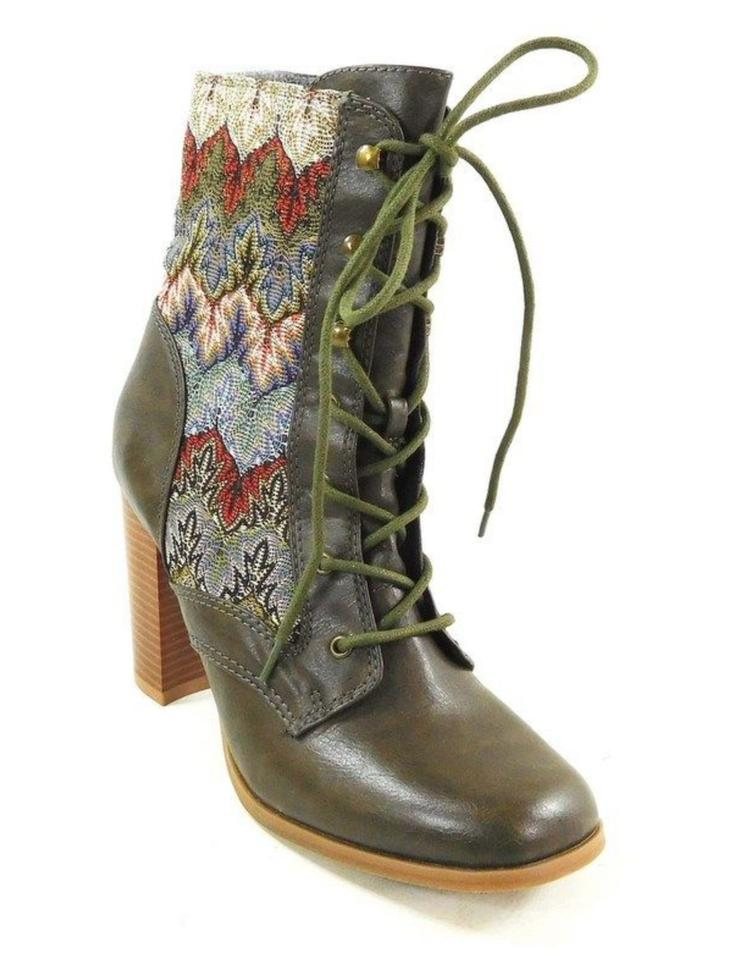 Mojo Dolce Moxy Green & Multi Dolce Mojo By Firebird Ankle Boots/Booties 51263c