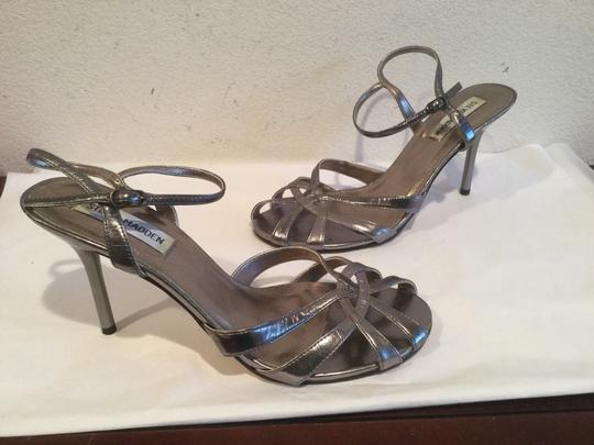 Steve Madden Strappy Pewter Sandals