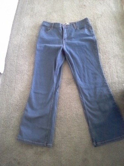 Preload https://item1.tradesy.com/images/levi-s-blue-at-waist-boot-cut-jeans-size-35-14-l-23600-0-0.jpg?width=400&height=650