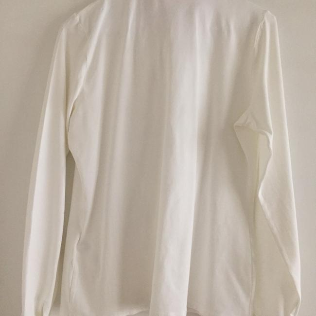 54e4fbee Anne Fontaine White Paris Button-down Top Size 6 (S) - Tradesy
