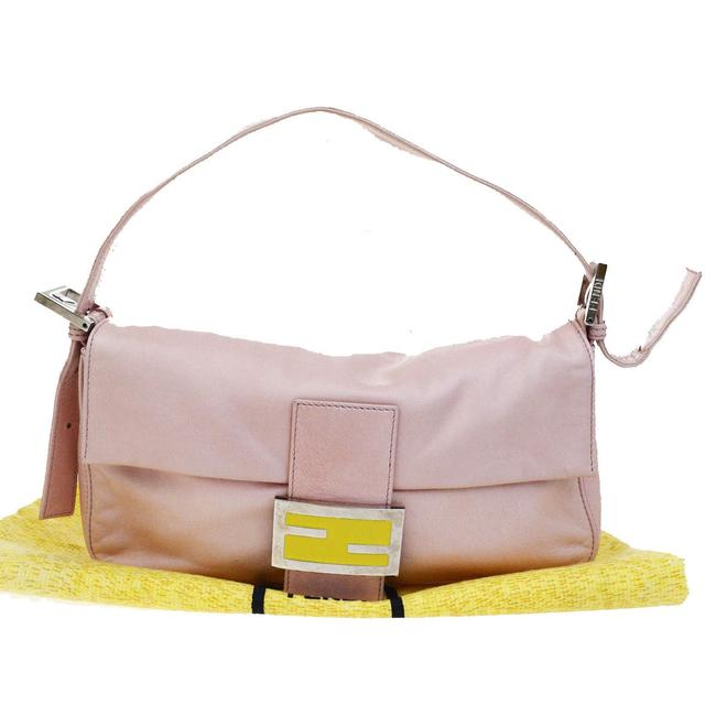 Item - Purses/Designer Purses Pink Lambskin Leather and Yellow Enamel Baguette