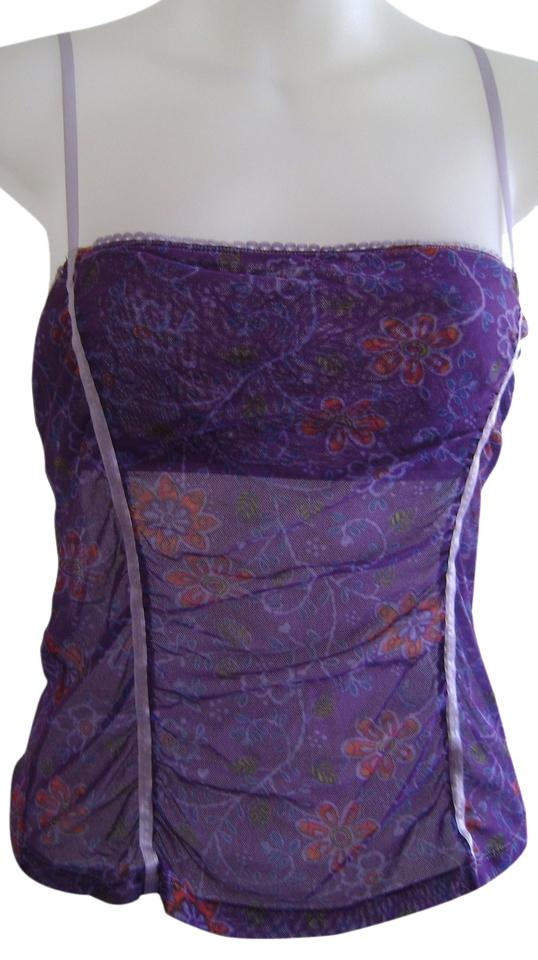 0236ee887c Purple Camisole Lace Sheer Tank Top Cami Size 12 (L) - Tradesy