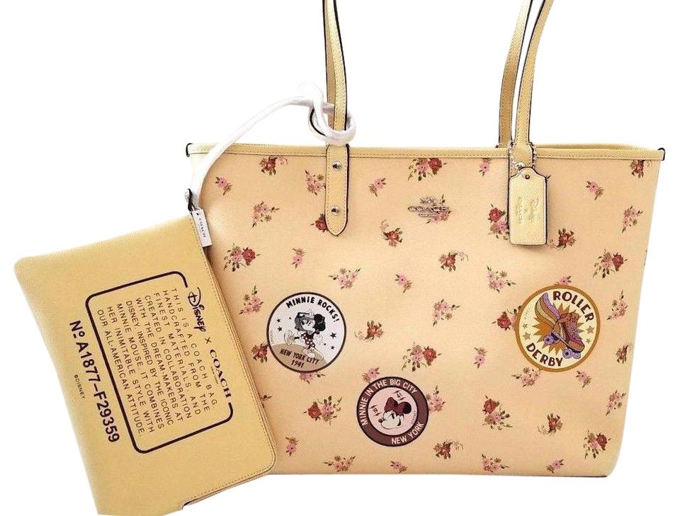 5c5e42f814 Coach Reversible Reversible Disney Limited Edition Minnie Tote in yellow  Image 0 ...