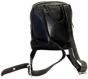 0cc61656d01 Perlina Silver Tone Hardware Euc Black Leather Backpack