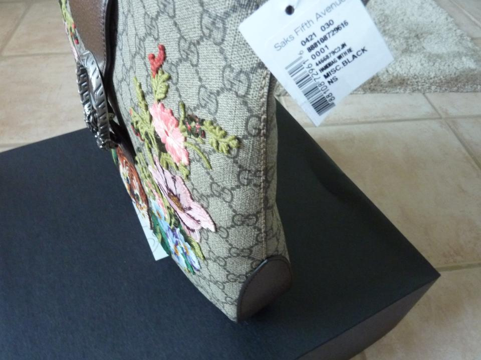 311756a53ab Gucci Dionysus Medium Gg Supreme Embroidered Beige Canvas Hobo Bag ...