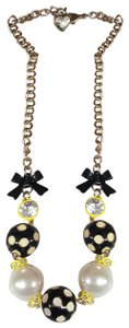 Betsey Johnson Yellow with Black n White Polka Dots