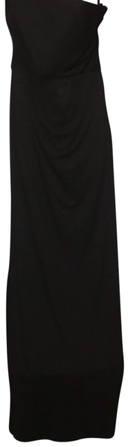 Item - Black Off One Shoulder Long Night Out Dress Size 8 (M)