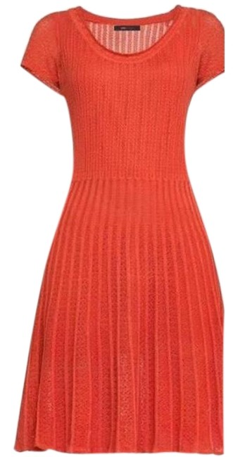 Item - Red Bcbg Max Azria Mid-length Work/Office Dress Size 4 (S)