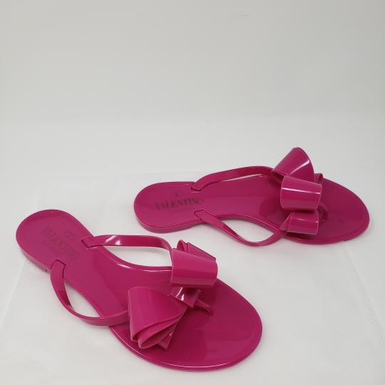 e40eeffc9 Valentino Pink Magenta Bow Slide Sandals Size EU 36 (Approx. US 6 ...