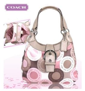 Coach Shoulder Scarf Print Hobo Bag