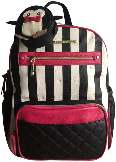 Betsey Johnson Backpack Pink Black