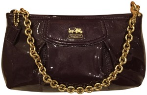 Coach Purple shimmer Clutch