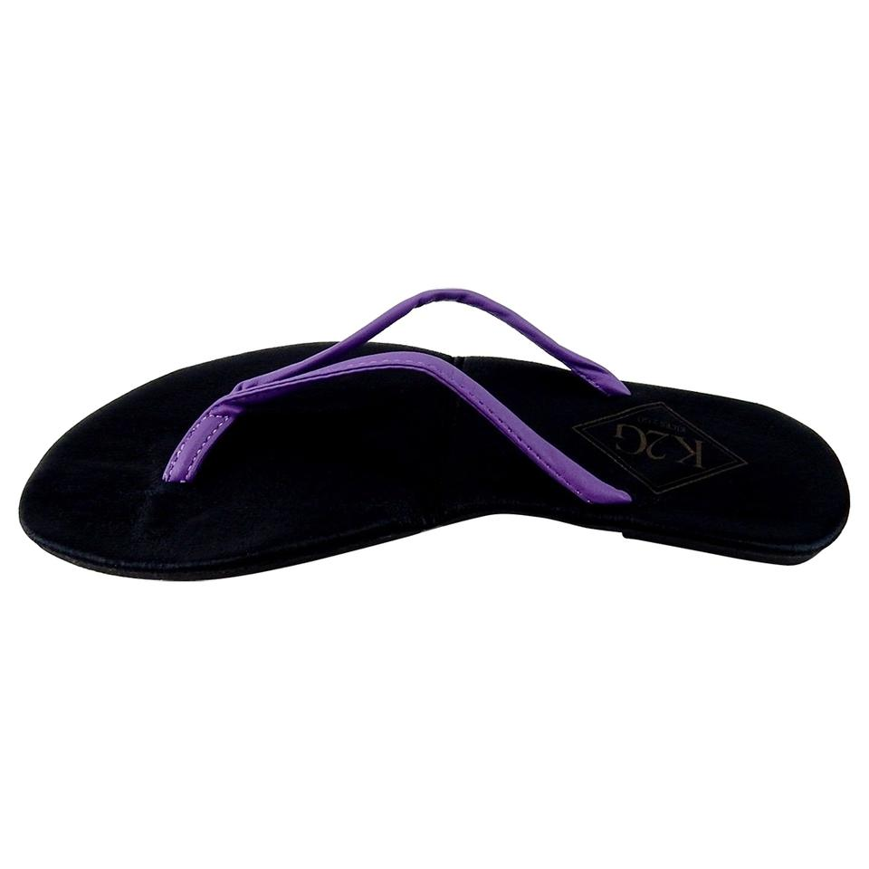 11e1fee71 Purple Ladies  Folding Flip-flops with Pouch-spa Beach Pool. Sandals Size  US 10 Regular (M