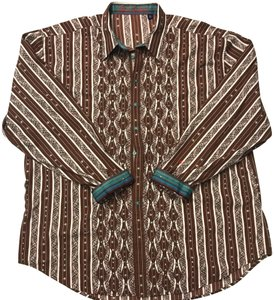 Robert Graham Shirt Button Down Shirt Brown