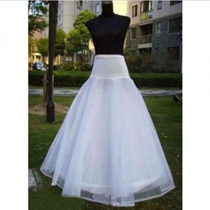 White Tulle New A-line 1 Hoop 2 Layer Bridal Gown Formal Petticoat Underskirt Slip Traditional Wedding Dress Size OS (one size)