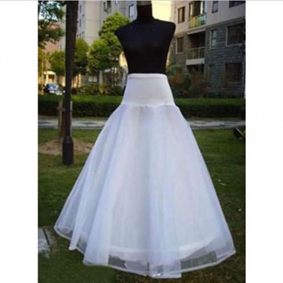 White Tulle New A-line 1 Hoop 2 Layer Bridal Gown Formal Petticoat ...