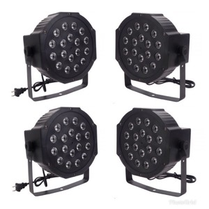Multicolor 4-pack Led Voice Control Parcan Uplights For and Events Ceremony Decoration
