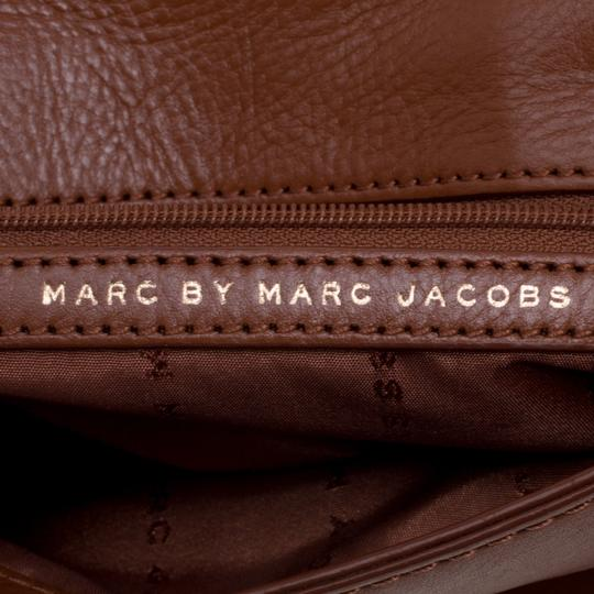 7ec47fdaff2 Marc by Marc Jacobs Katie Brown Leather & Fabric Clutch - Tradesy
