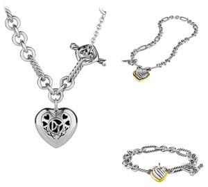 David Yurman David Yurman Cable Heart Set