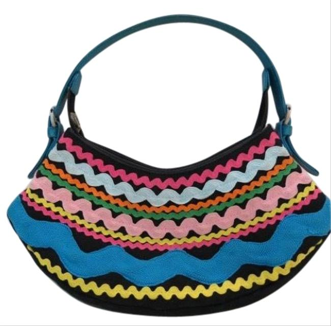Item - Vintage Rare Pink Lining Multi Color Body Hobo Bag
