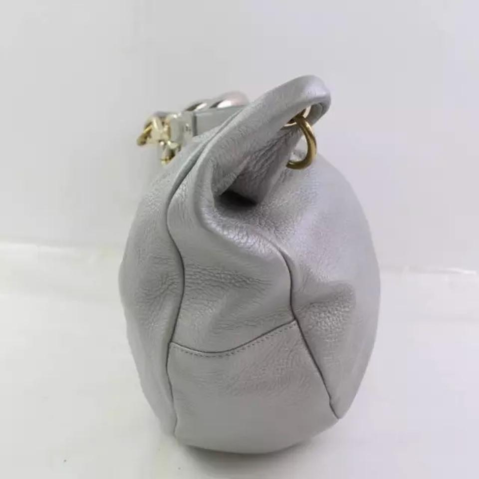 Jimmy Leather Shoulder Bag Silver Hobo Choo Solar rHqrR