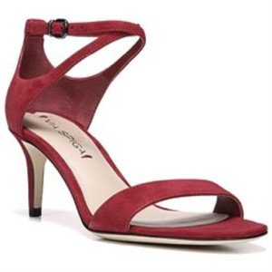 Via Spiga Strappy Ankle Ankle Strap Red Sandals
