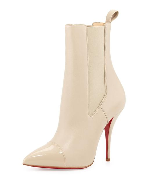 Item - Beige Ivory White Leather Tucson Mid-calf Boots/Booties Size EU 37.5 (Approx. US 7.5) Regular (M, B)