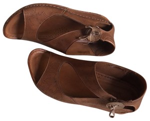 Spring Step Natural Brown Real Leather Sandals