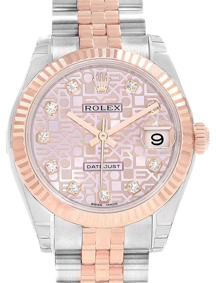 d71cfb37fdd Rolex Rolex Datejust Midsize Steel Rose Gold White Roman Dial Watch 178271  Image 0 ...