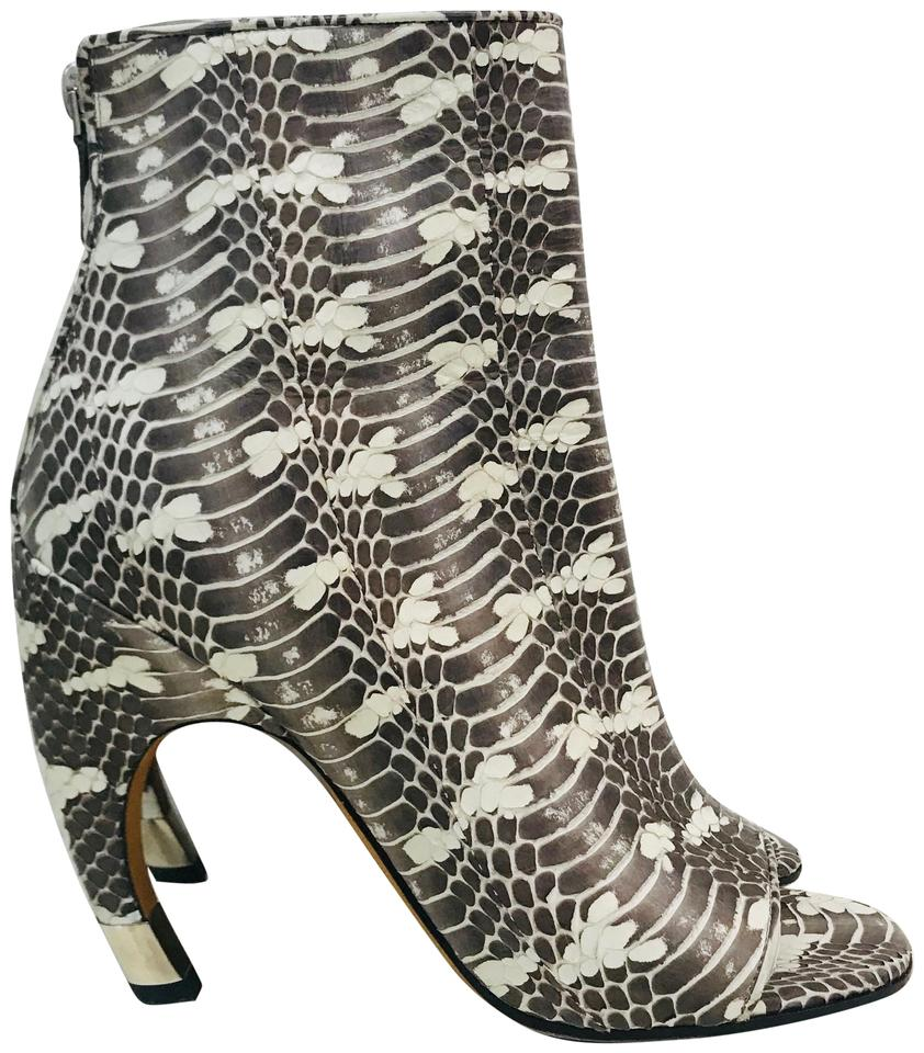 a95fca3681e Givenchy Sanke Print Eclisi Curved Heel Snakeskin Embossed Leather  Boots/Booties Size EU 37.5 (Approx. US 7.5) Regular (M, B) 46% off retail