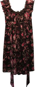 Bee Darlin short dress Brown Fuchsia Summer Lined Belt on Tradesy