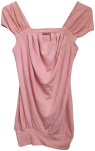 Ella Moss Knit Draped Knit T Shirt Pink