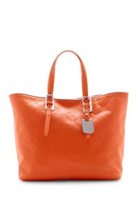 Longchamp Leather Tote in Orange