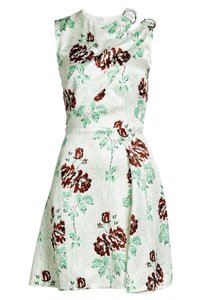 Victoria Beckham Silk Rose Printed Dress