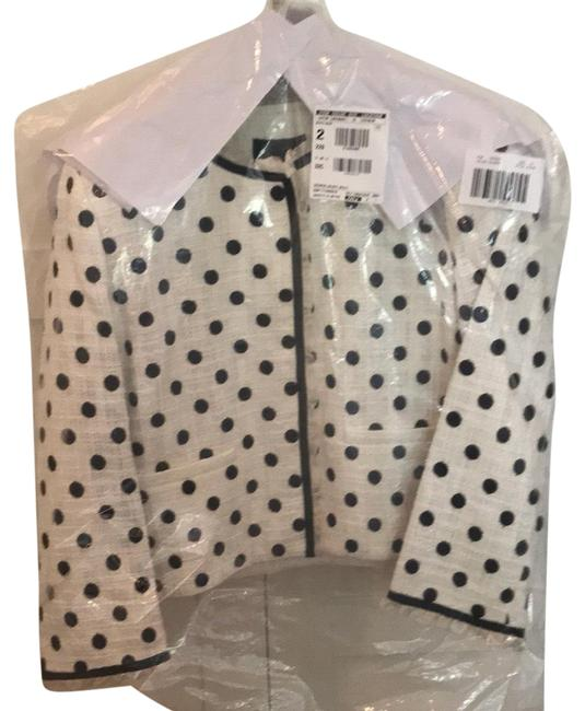 Item - White and Navy Crispin Jacket Skirt Suit Size 14 (L)