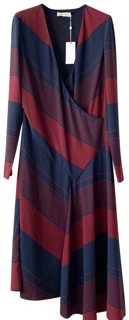Item - Red New Stripe Bias Mid-length Short Casual Dress Size 6 (S)