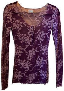 Free People Lace T Shirt Deep Plum