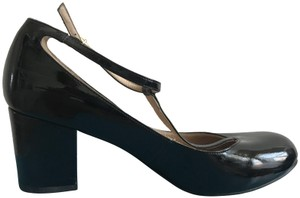 KG Kurt Geiger T Strap Maryjane Patent Leather Heels Goth Black Pumps