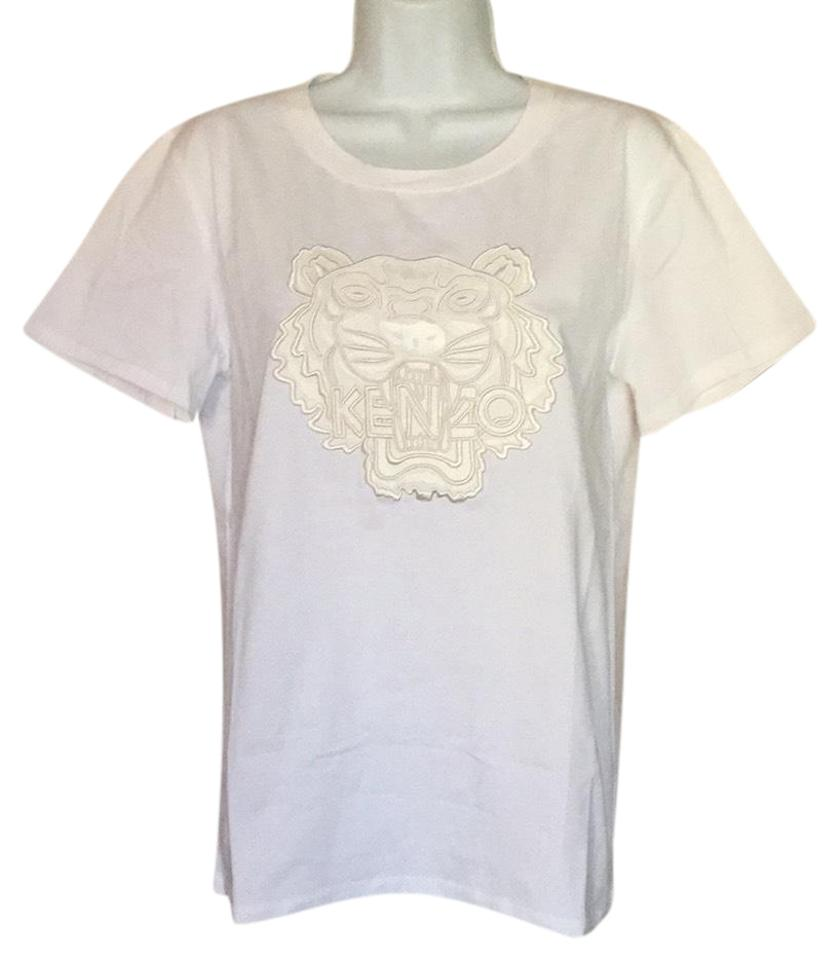 7fbd07a8d49 Kenzo White L Women Embroidered Tiger (12) Nwo Tee Shirt Size 12 (L ...