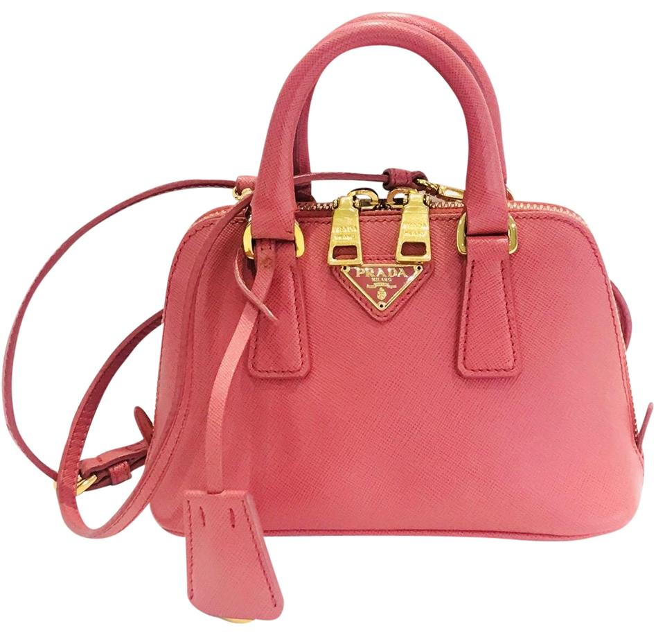 409d5a30ee03 Prada Promenade Lux Saffiano Mini Pink Leather Cross Body Bag - Tradesy
