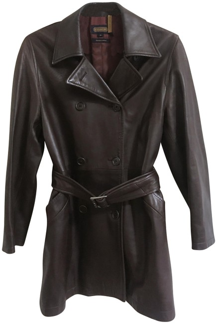 Item - Brown Leather Coat Size 2 (XS)